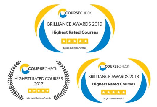 Coursecheck awards 2017 - 2019